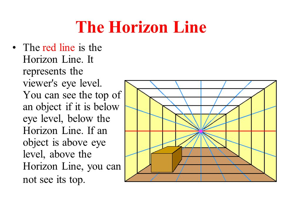 Drawing Using Horizon Lines : Drawing in one point perspective ppt video online download