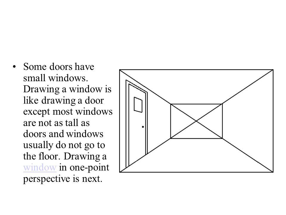 Some doors have small windows