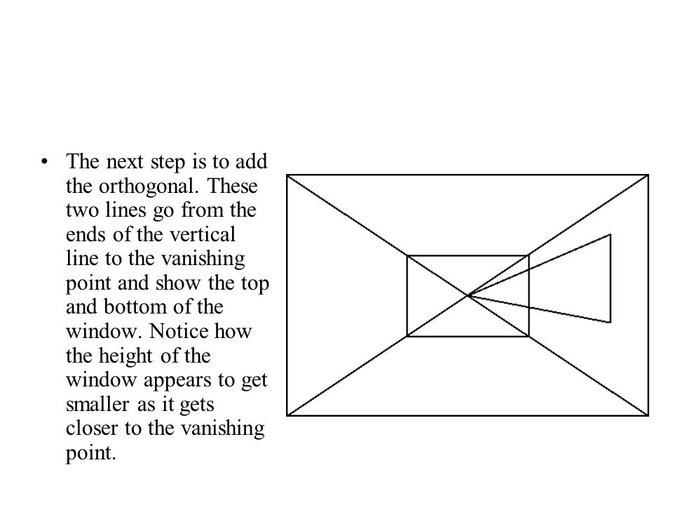 The next step is to add the orthogonal