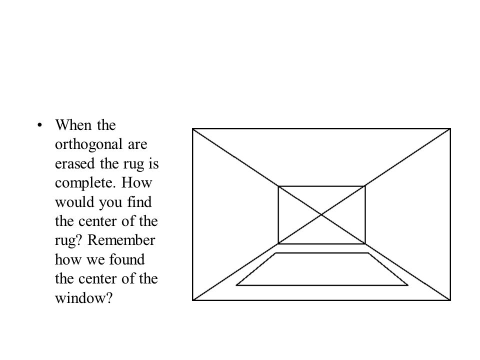 When the orthogonal are erased the rug is complete