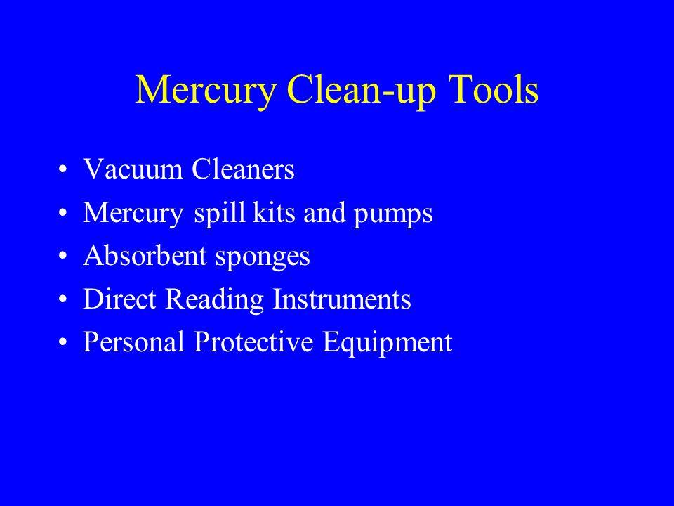 Mercury Clean-up Tools