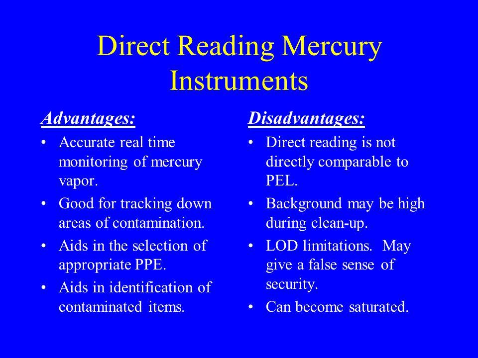 Direct Reading Mercury Instruments