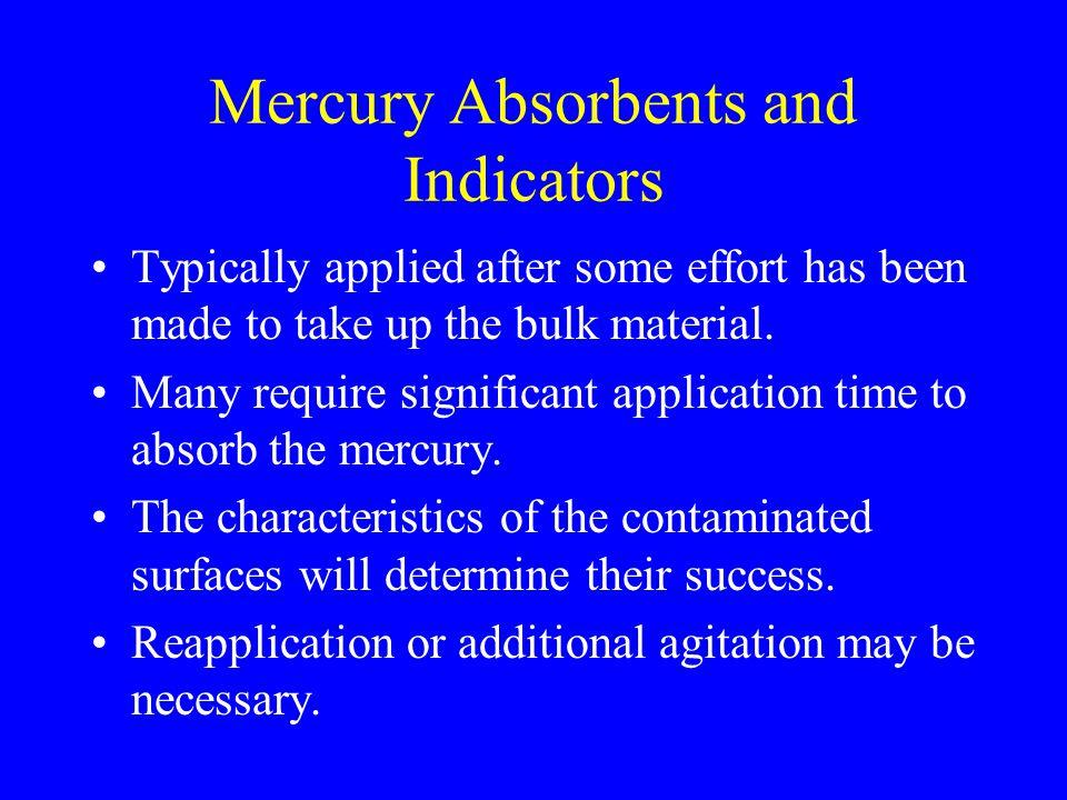Mercury Absorbents and Indicators