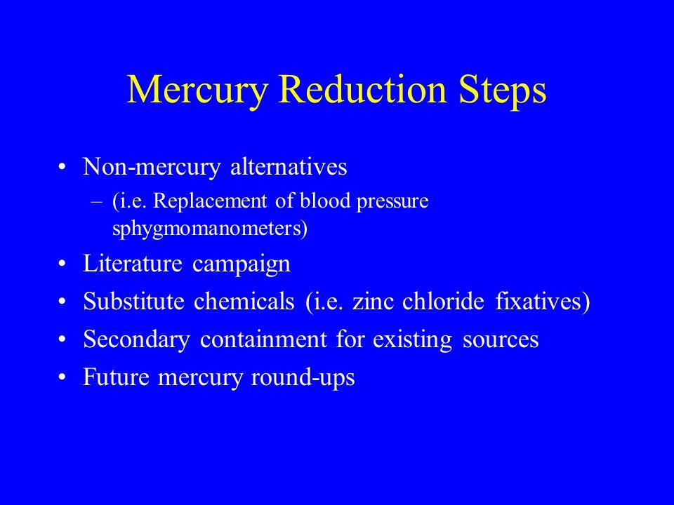 Mercury Reduction Steps