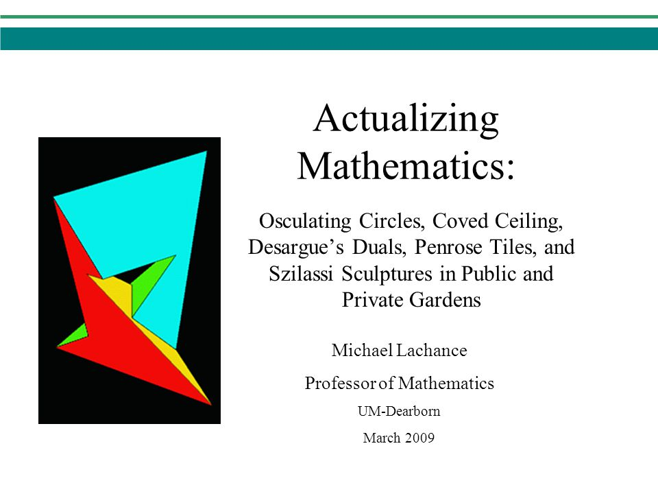 Actualizing Mathematics: