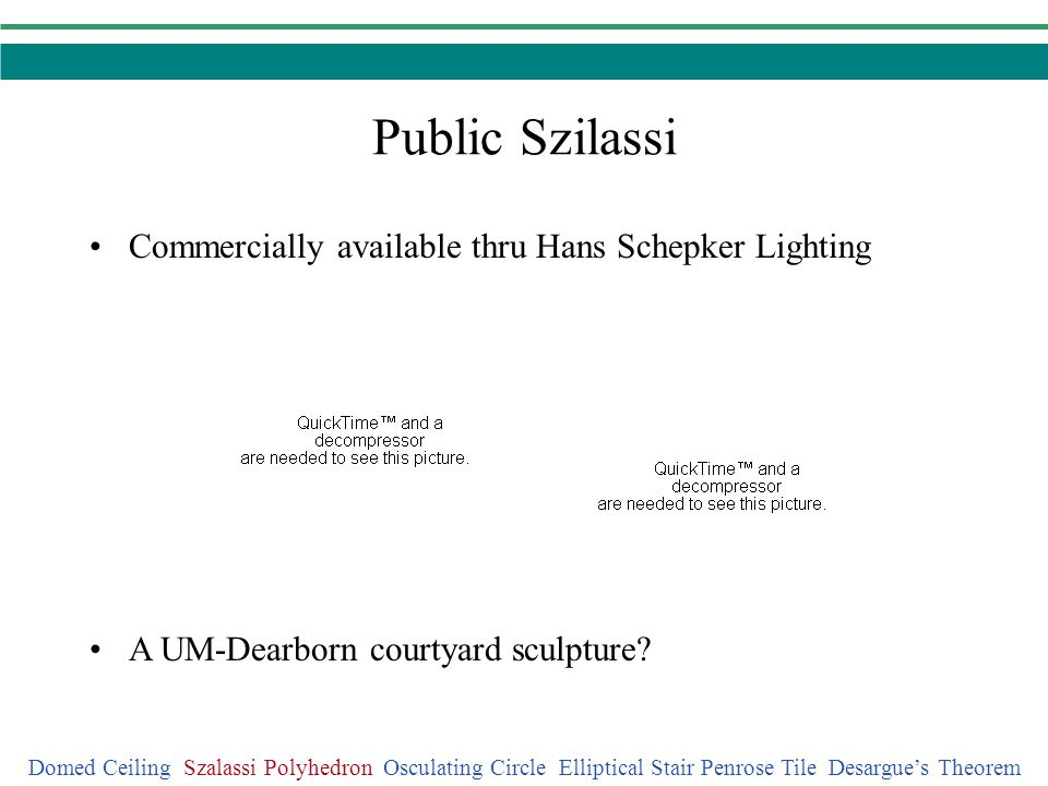 Public Szilassi Commercially available thru Hans Schepker Lighting