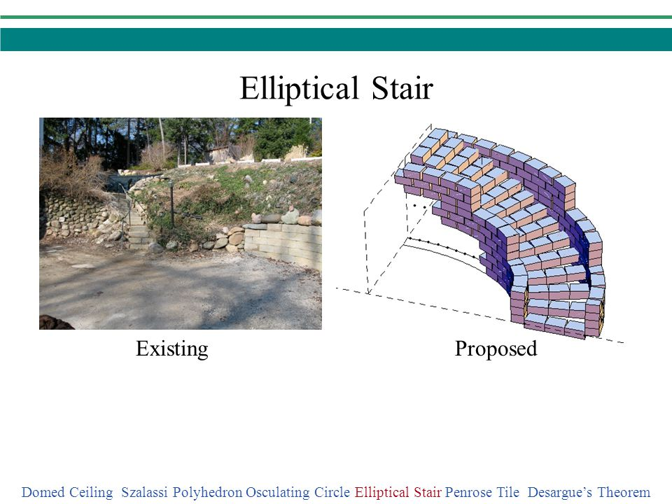 Elliptical Stair Existing Proposed