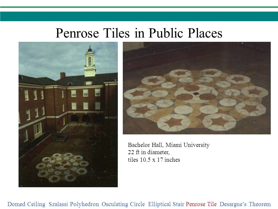 Penrose Tiles in Public Places