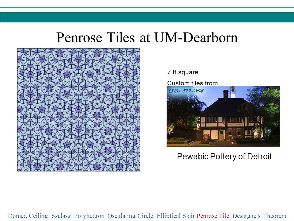 Penrose Tiles at UM-Dearborn