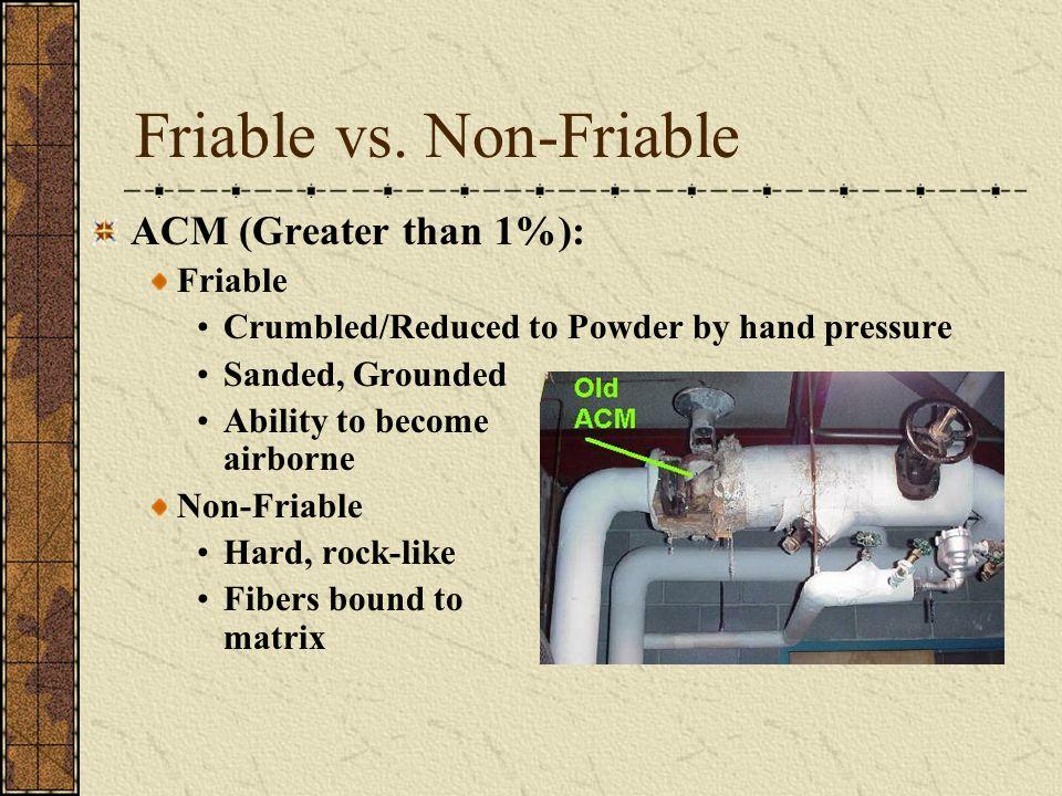 Friable vs. Non-Friable