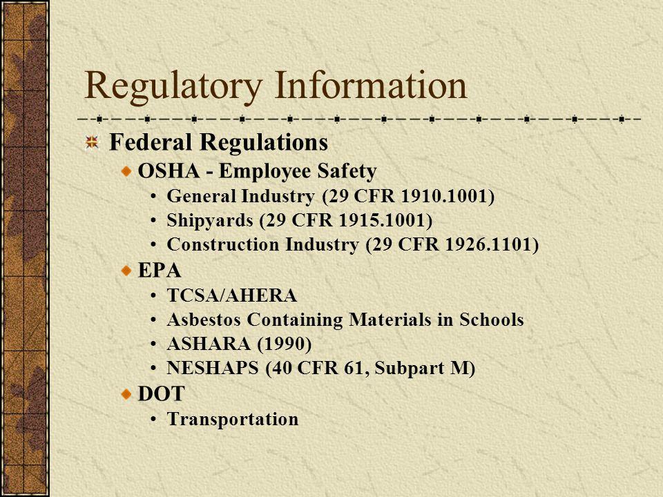 Regulatory Information