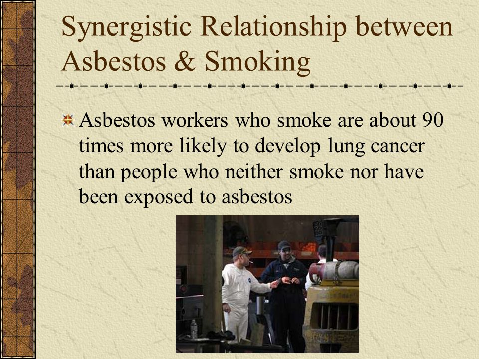 Synergistic Relationship between Asbestos & Smoking