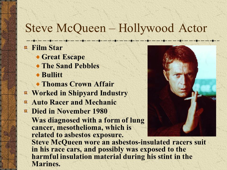 Steve McQueen – Hollywood Actor