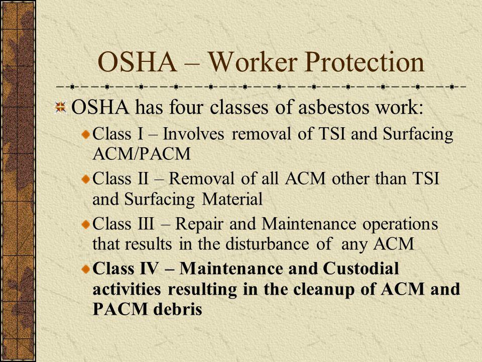 OSHA – Worker Protection