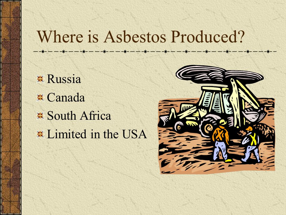 Where is Asbestos Produced