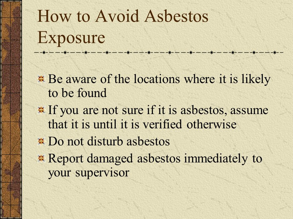 How to Avoid Asbestos Exposure
