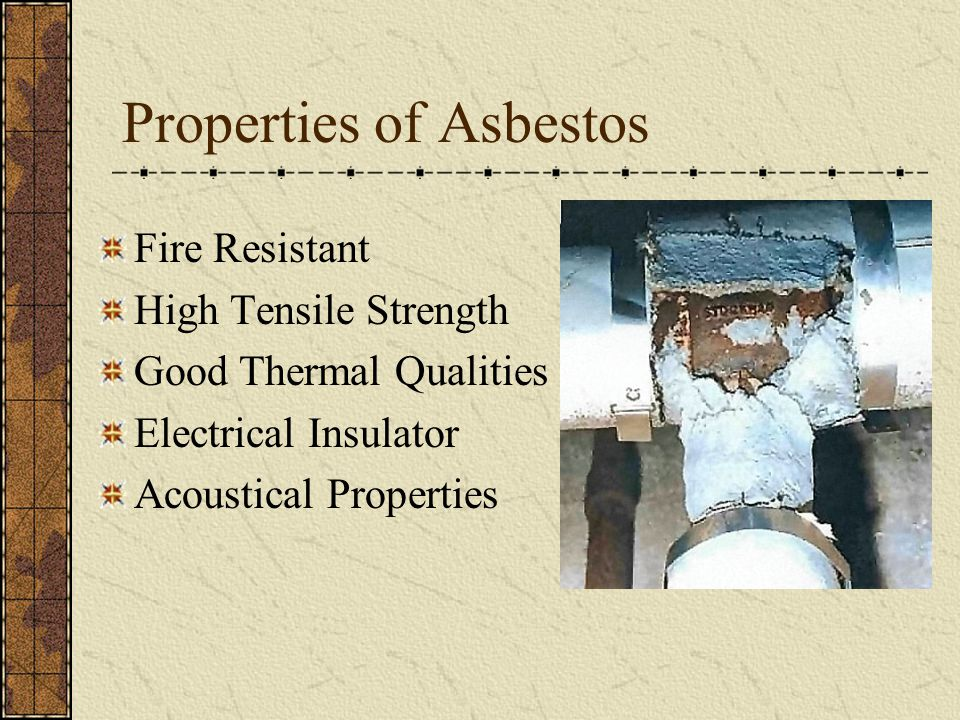 Properties of Asbestos