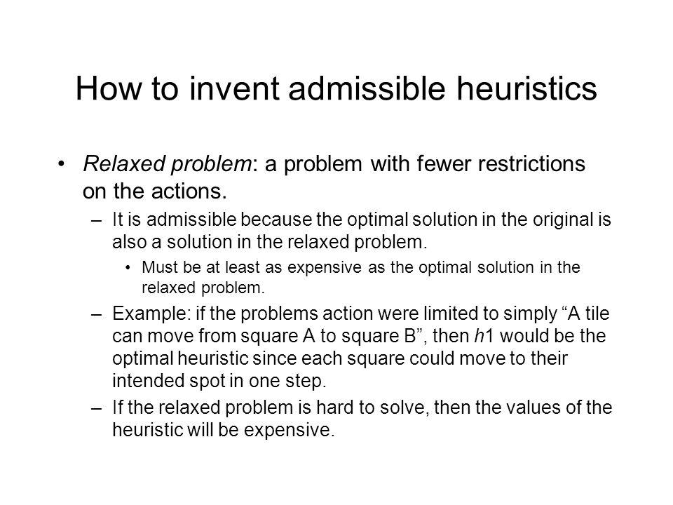 How to invent admissible heuristics