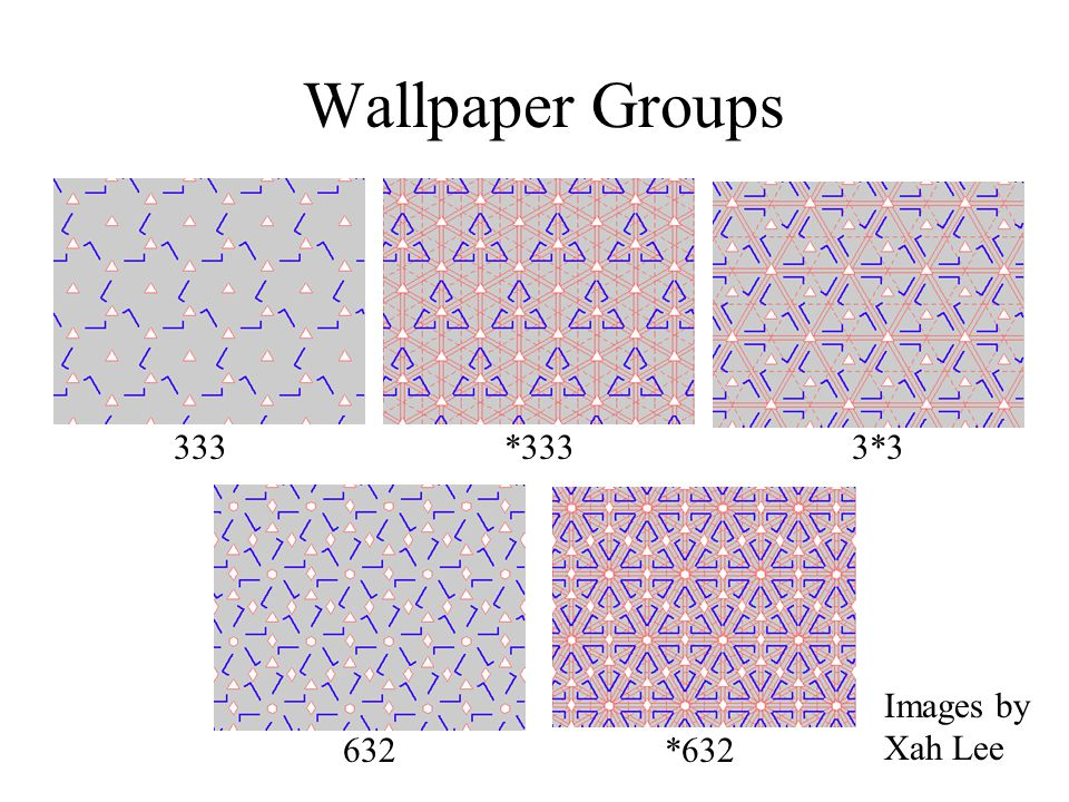 Wallpaper Groups 333 *333 3*3 Images by Xah Lee 632 *632