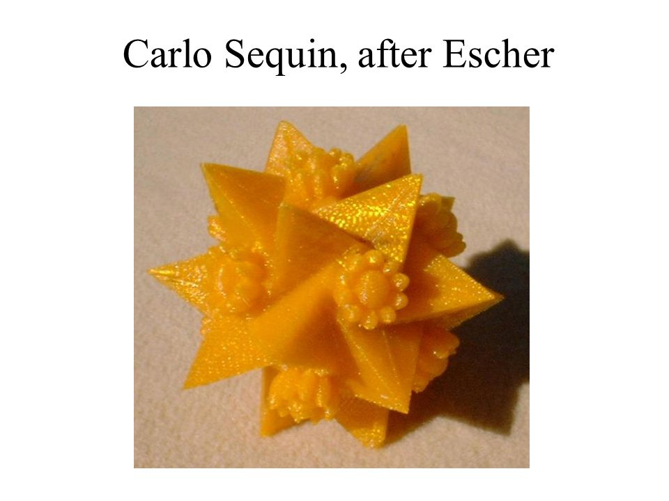 Carlo Sequin, after Escher