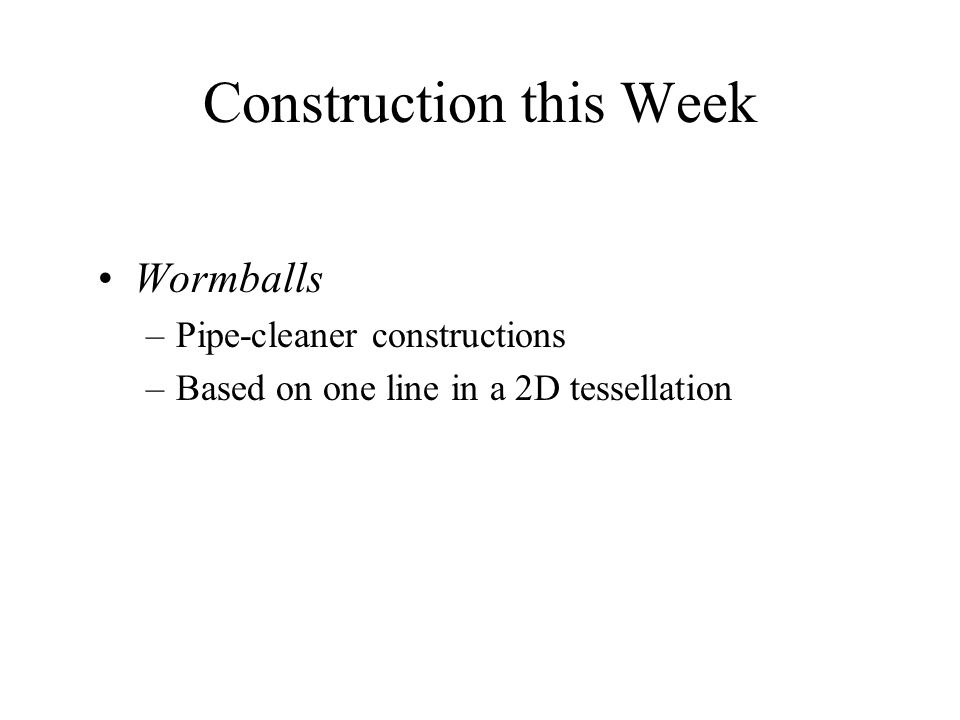 Construction this Week