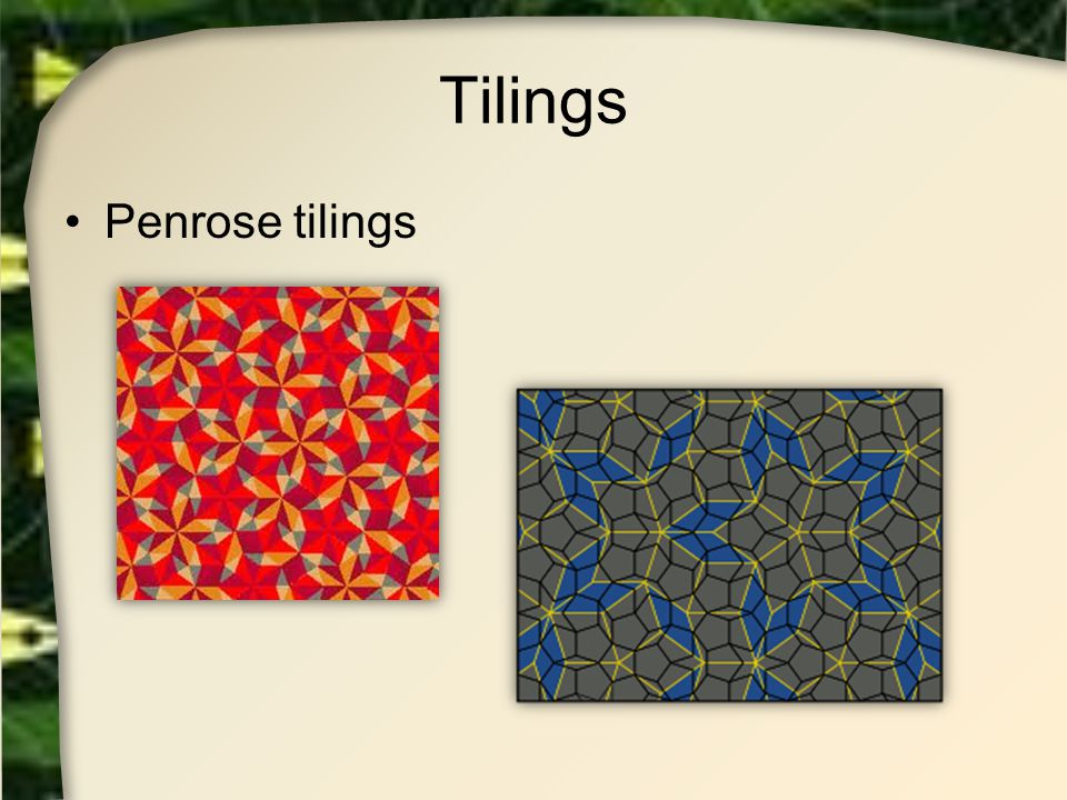 Tilings Penrose tilings