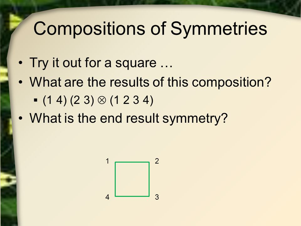 Compositions of Symmetries