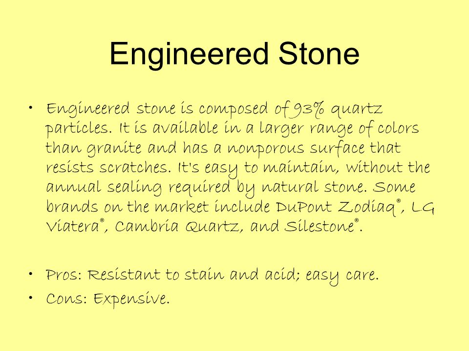 Engineered Stone