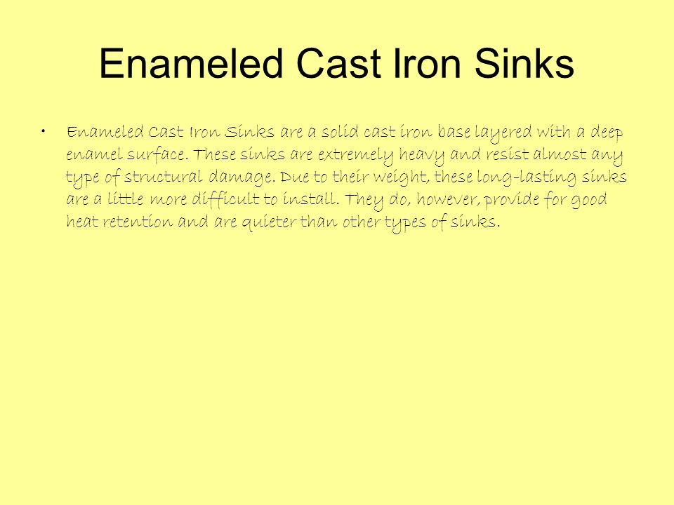 Enameled Cast Iron Sinks