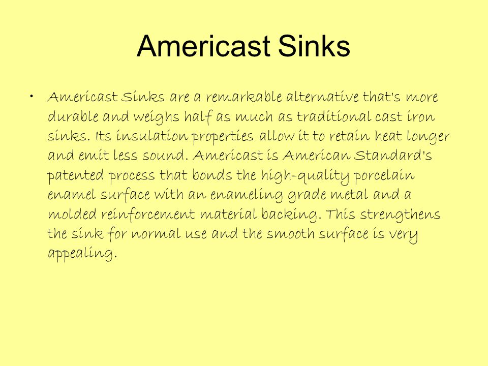 Americast Sinks