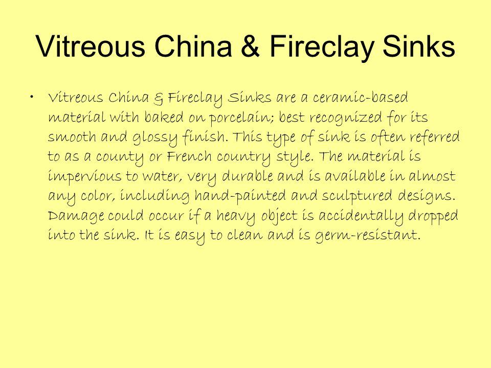 Vitreous China & Fireclay Sinks