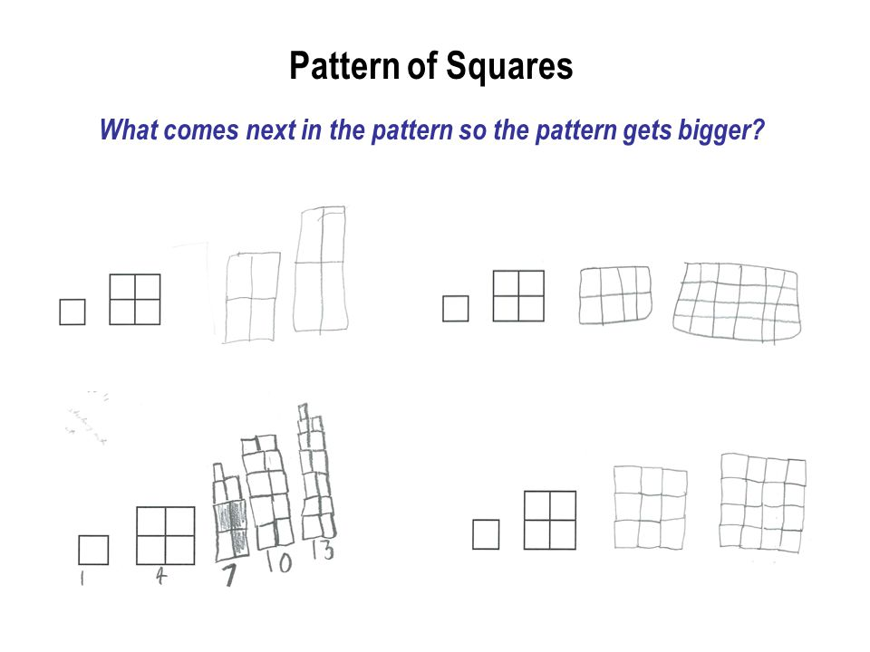 What comes next in the pattern so the pattern gets bigger