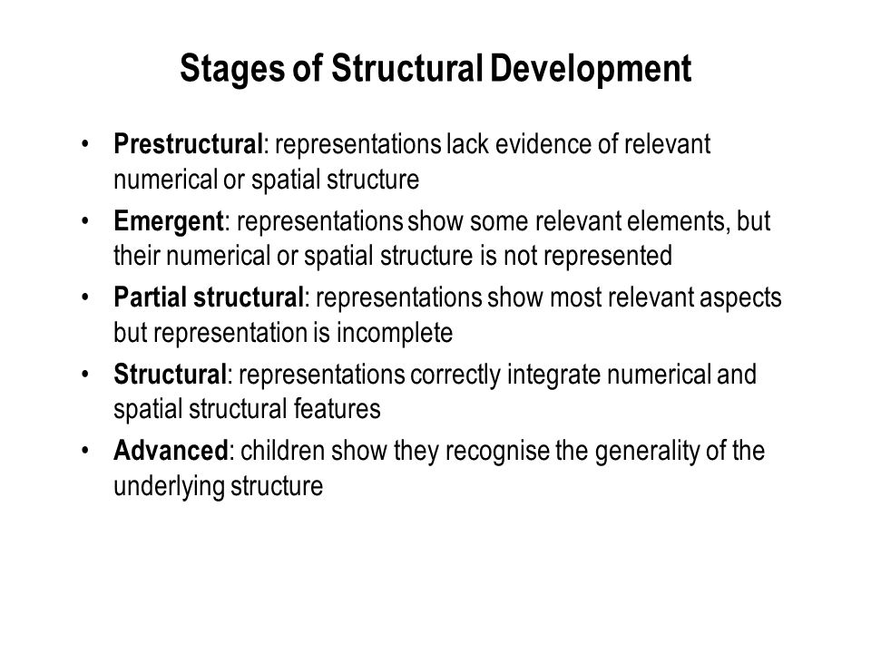 Stages of Structural Development