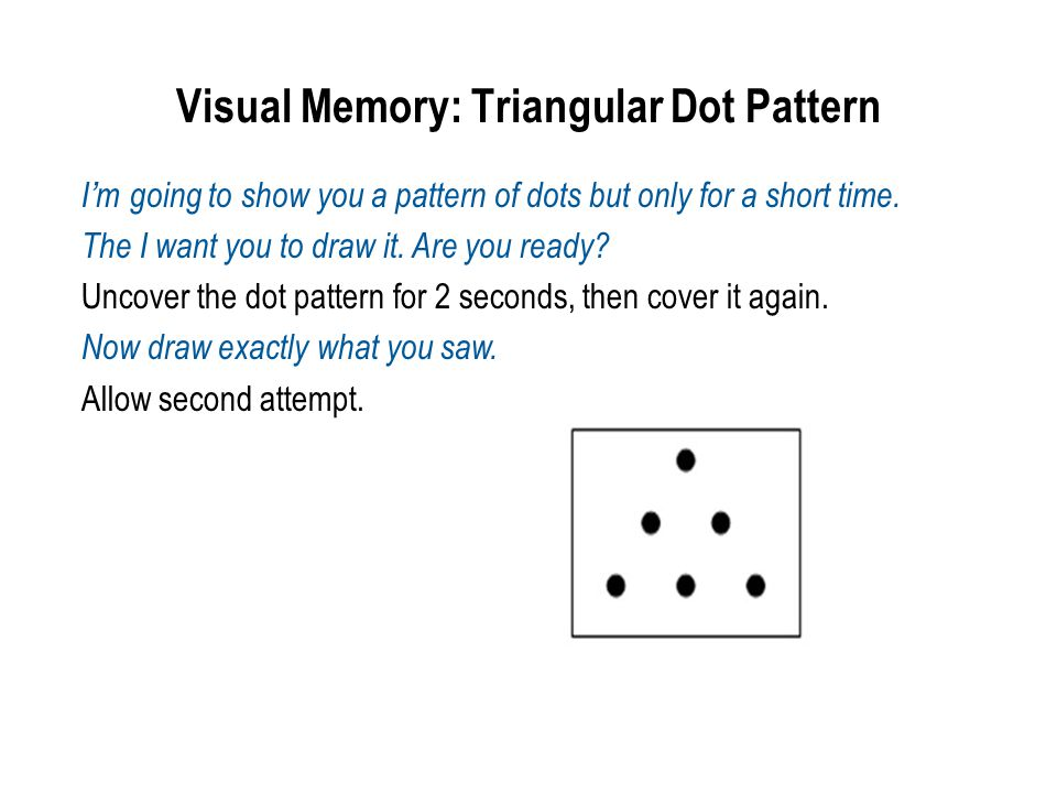 Visual Memory: Triangular Dot Pattern