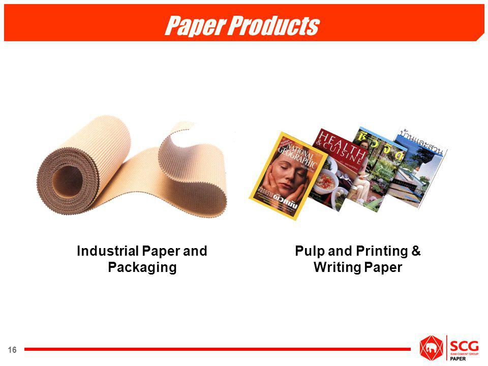 Industrial Paper and Packaging Pulp and Printing & Writing Paper