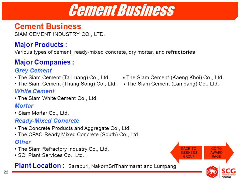 Cement Business Cement Business