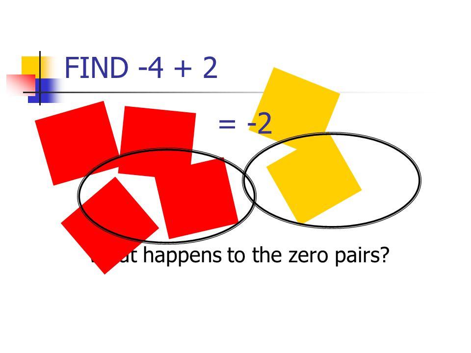 What happens to the zero pairs