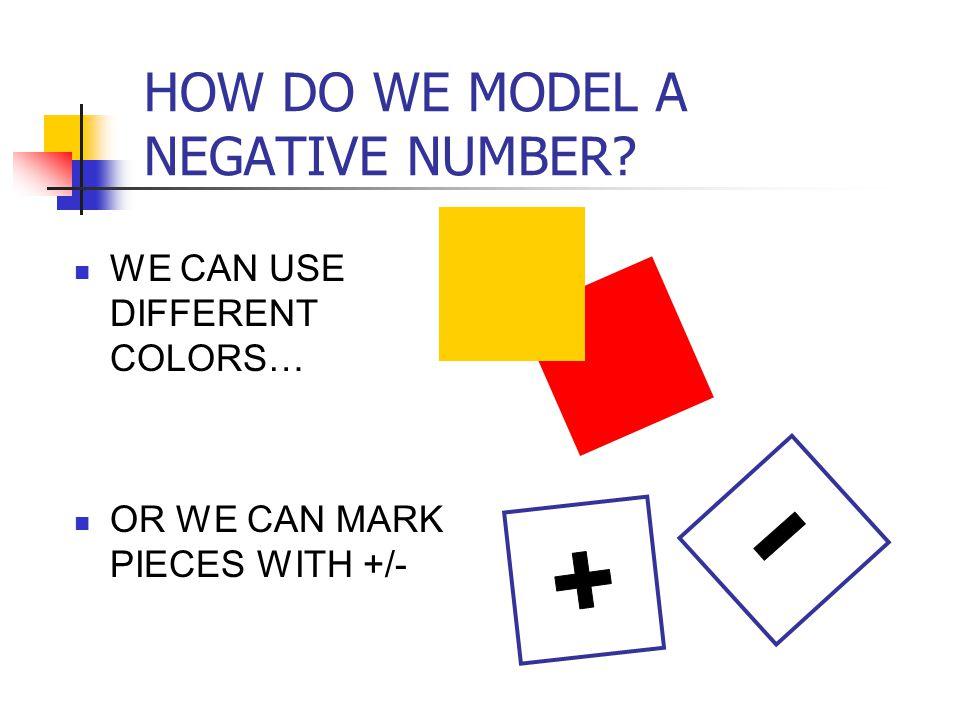 HOW DO WE MODEL A NEGATIVE NUMBER