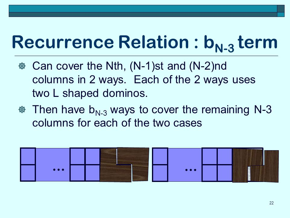 Recurrence Relation : bN-3 term