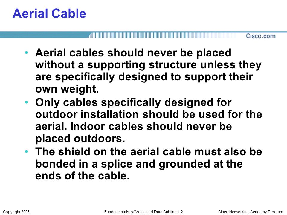 Fundamentals of Voice and Data Cabling 1.2