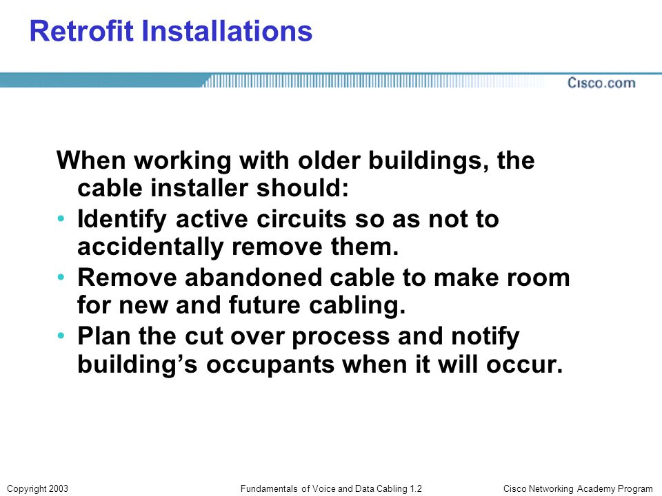Retrofit Installations