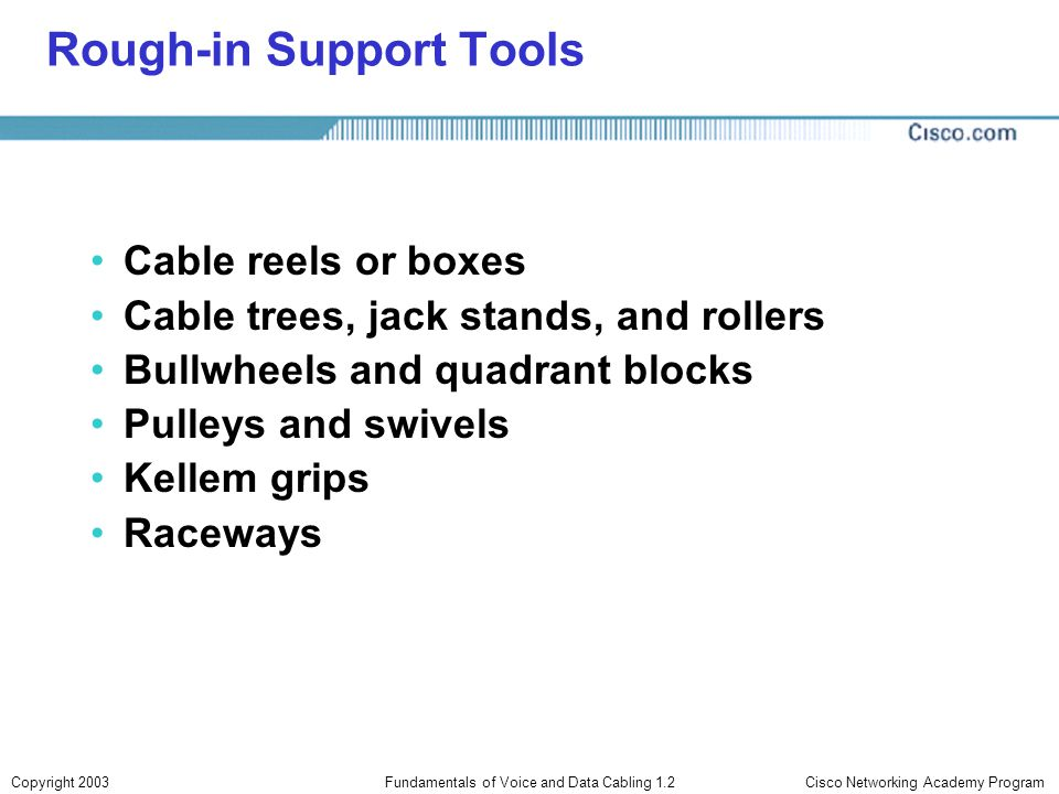 Rough-in Support Tools