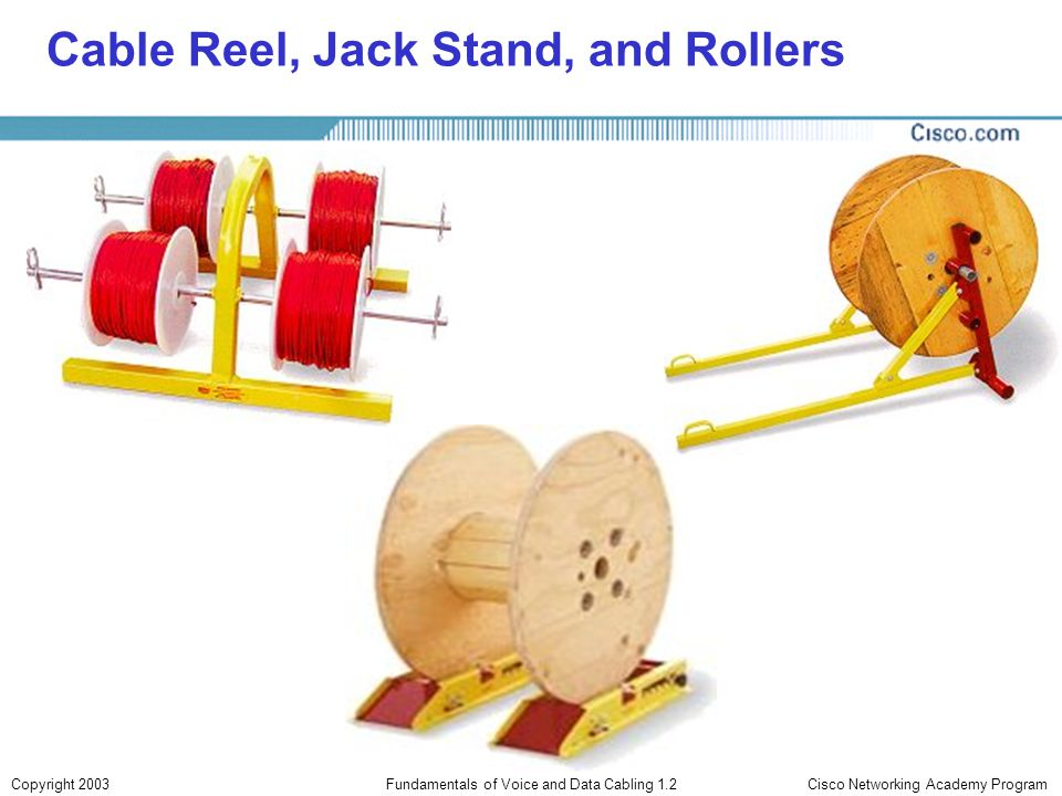 Cable Reel, Jack Stand, and Rollers