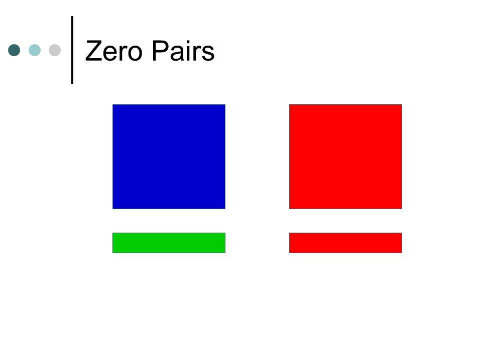 Zero Pairs