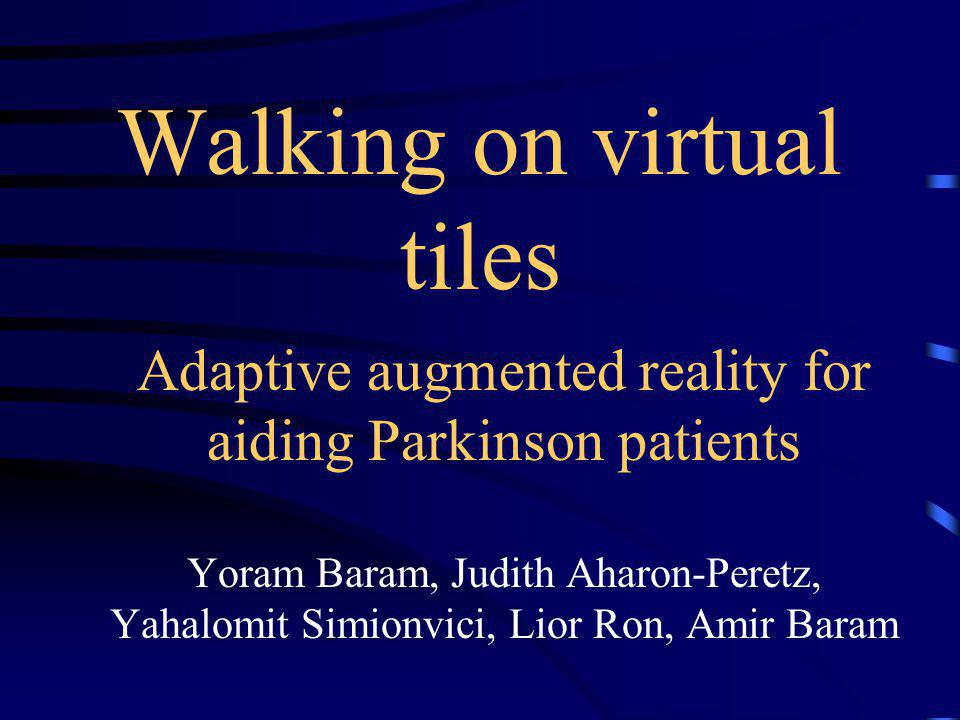 Walking on virtual tiles