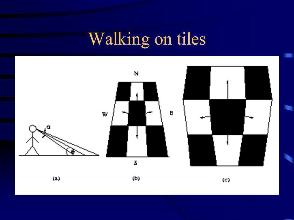 Walking on tiles