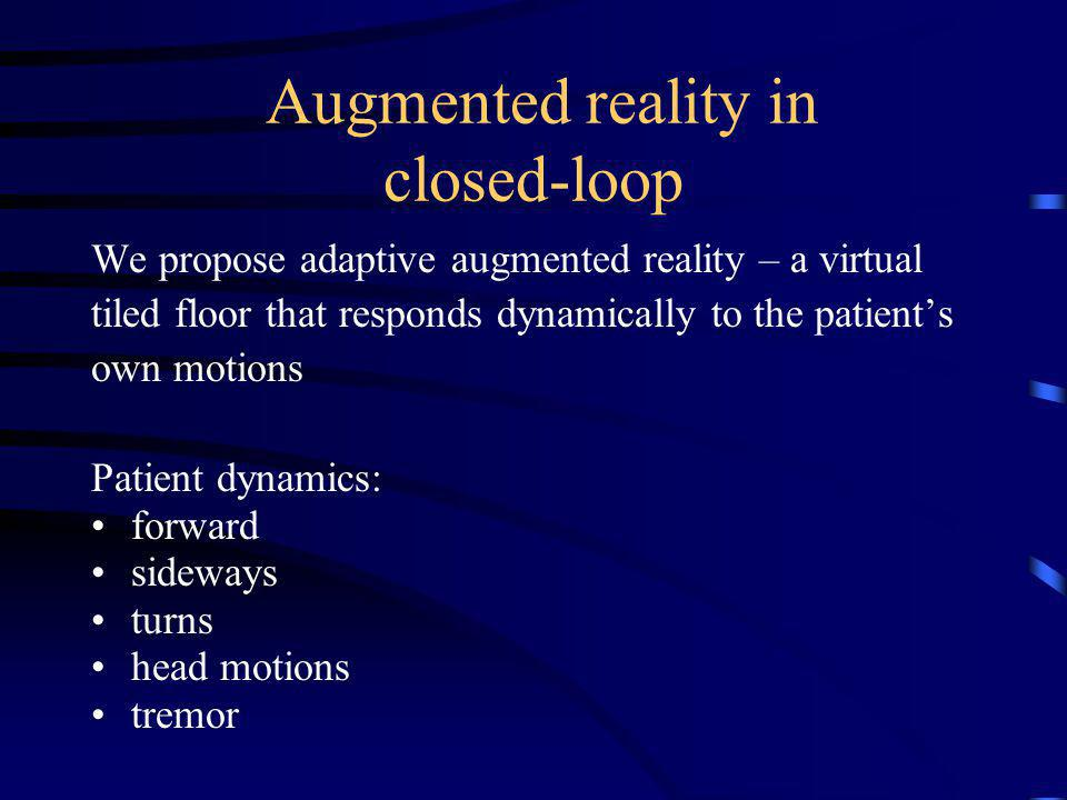 Augmented reality in closed-loop