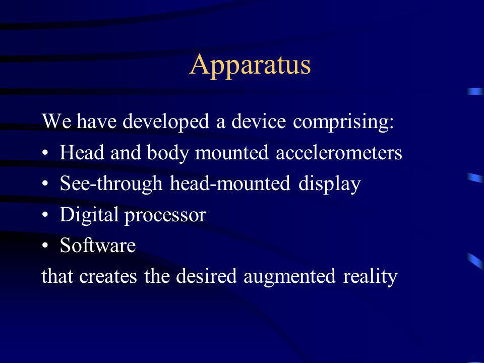 Apparatus We have developed a device comprising: