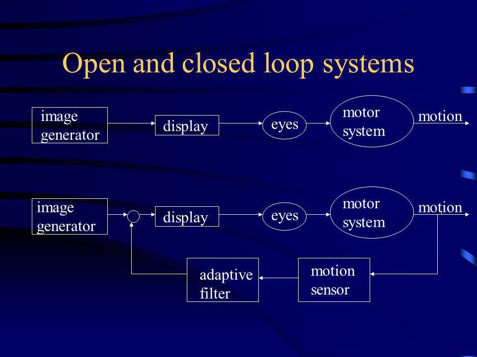 Open and closed loop systems