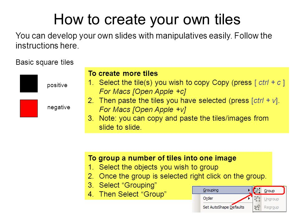 How to create your own tiles